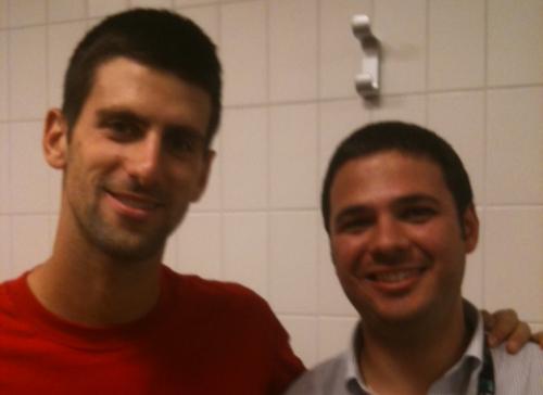 Djokovic e Dr. De Gasperis
