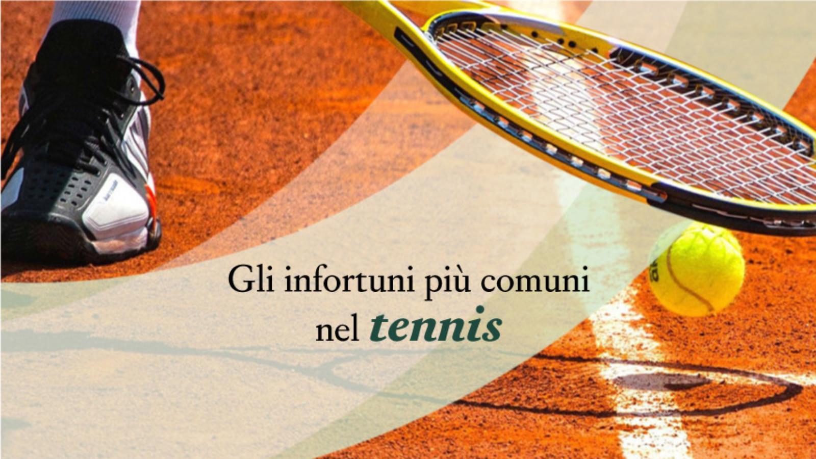 Gli infortuni più comuni nel tennis